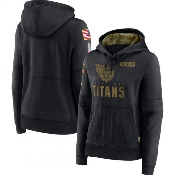 Women's Nike Tennessee Titans Black 2020 Salute to Service Performance Pullover Hoodie -