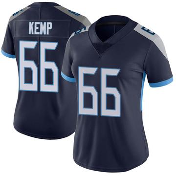 Women's Nike Tennessee Titans Brandon Kemp Navy Vapor Untouchable Jersey - Limited