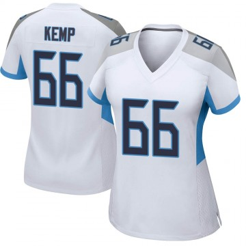 Women's Nike Tennessee Titans Brandon Kemp White Jersey - Game