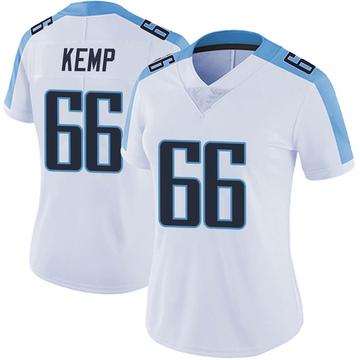 Women's Nike Tennessee Titans Brandon Kemp White Vapor Untouchable Jersey - Limited