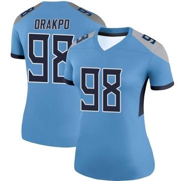 Women's Nike Tennessee Titans Brian Orakpo Light Blue Jersey - Legend