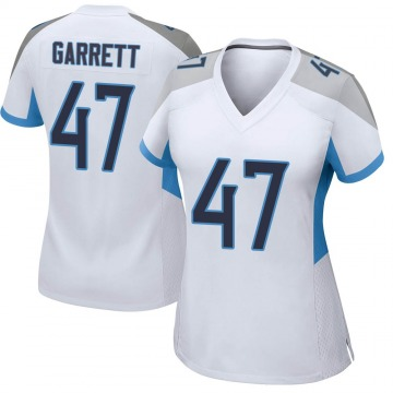 Women's Nike Tennessee Titans Cale Garrett White Jersey - Game