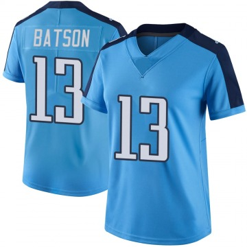 Women's Nike Tennessee Titans Cameron Batson Light Blue Color Rush Jersey - Limited