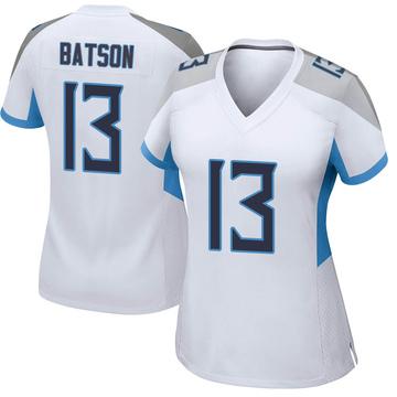 Women's Nike Tennessee Titans Cameron Batson White Jersey - Game