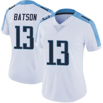 Women's Nike Tennessee Titans Cameron Batson White Vapor Untouchable Jersey - Limited