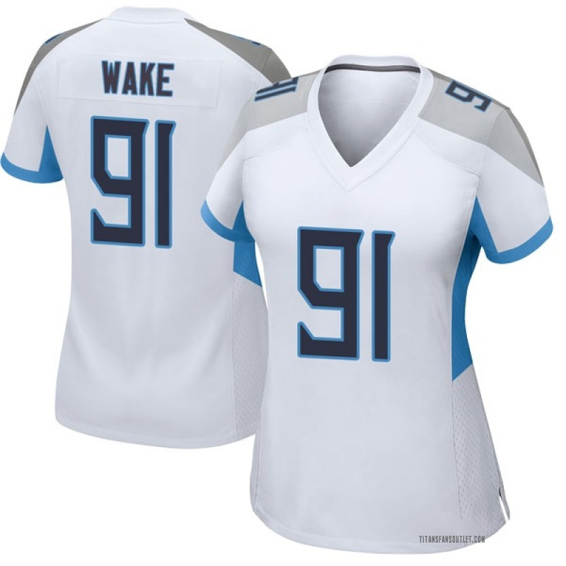 10cd8b06 Women's Nike Tennessee Titans Cameron Wake White Jersey - Game