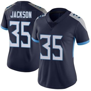 Women's Nike Tennessee Titans Chris Jackson Navy Vapor Untouchable Jersey - Limited