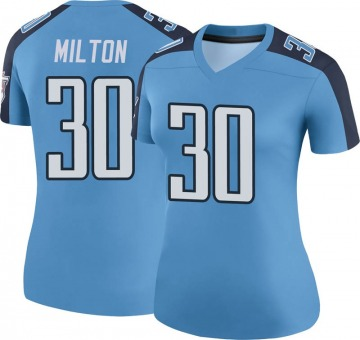 Women's Nike Tennessee Titans Chris Milton Light Blue Color Rush Jersey - Legend