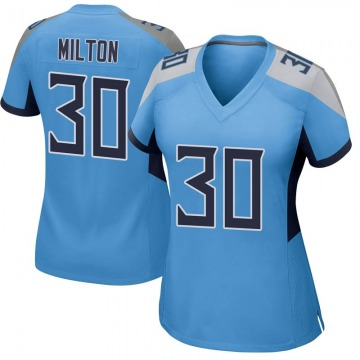 Women's Nike Tennessee Titans Chris Milton Light Blue Jersey - Game