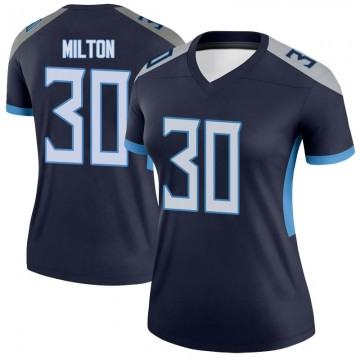 Women's Nike Tennessee Titans Chris Milton Navy Jersey - Legend