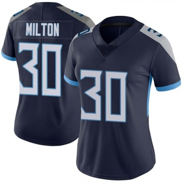 Women's Nike Tennessee Titans Chris Milton Navy Vapor Untouchable Jersey - Limited