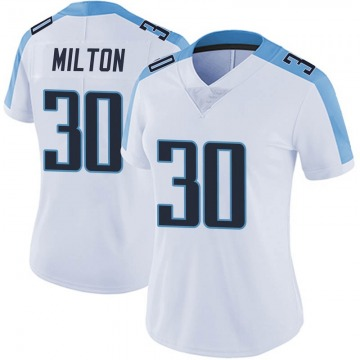 Women's Nike Tennessee Titans Chris Milton White Vapor Untouchable Jersey - Limited
