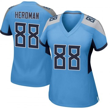 Women's Nike Tennessee Titans Cole Herdman Light Blue Jersey - Game