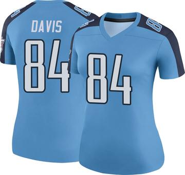 Women's Nike Tennessee Titans Corey Davis Light Blue Color Rush Jersey - Legend