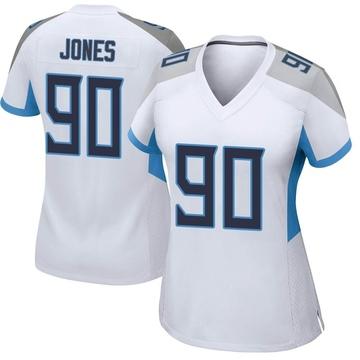 Women's Nike Tennessee Titans DaQuan Jones White Jersey - Game