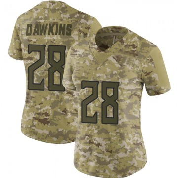 Women's Nike Tennessee Titans Dalyn Dawkins Camo 2018 Salute to Service Jersey - Limited