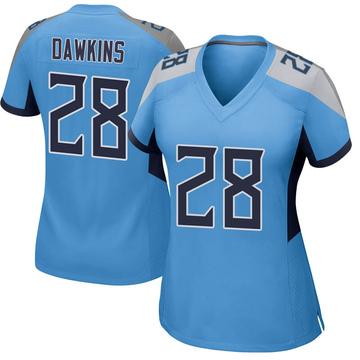 Women's Nike Tennessee Titans Dalyn Dawkins Light Blue Jersey - Game
