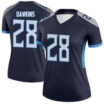 Women's Nike Tennessee Titans Dalyn Dawkins Navy Jersey - Legend