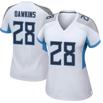 Women's Nike Tennessee Titans Dalyn Dawkins White Jersey - Game