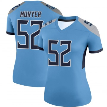 Women's Nike Tennessee Titans Daniel Munyer Light Blue Jersey - Legend