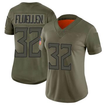 Women's Nike Tennessee Titans David Fluellen Camo 2019 Salute to Service Jersey - Limited