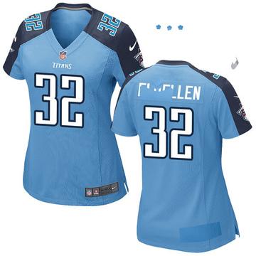 Women's Nike Tennessee Titans David Fluellen Light Blue Team Color Jersey - Game