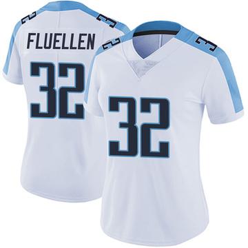 Women's Nike Tennessee Titans David Fluellen White Vapor Untouchable Jersey - Limited