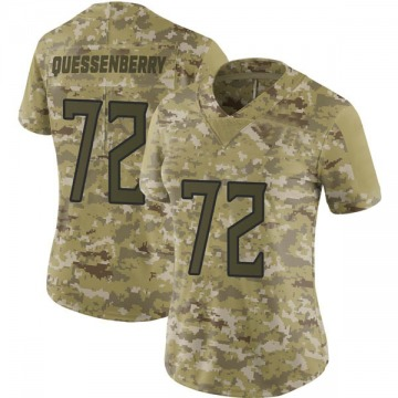 Women's Nike Tennessee Titans David Quessenberry Camo 2018 Salute to Service Jersey - Limited