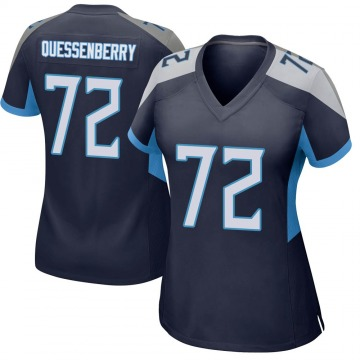 Women's Nike Tennessee Titans David Quessenberry Navy Jersey - Game