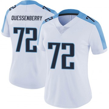 Women's Nike Tennessee Titans David Quessenberry White Vapor Untouchable Jersey - Limited