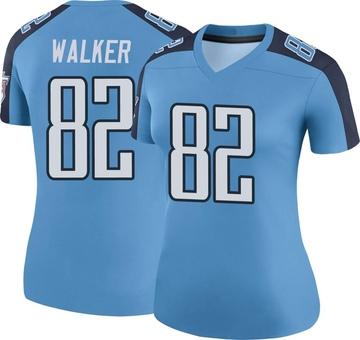 Women's Nike Tennessee Titans Delanie Walker Light Blue Color Rush Jersey - Legend