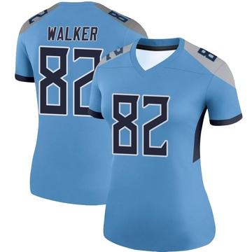 Women's Nike Tennessee Titans Delanie Walker Light Blue Jersey - Legend