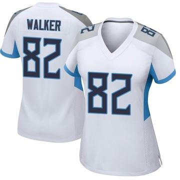 Women's Nike Tennessee Titans Delanie Walker White Jersey - Game