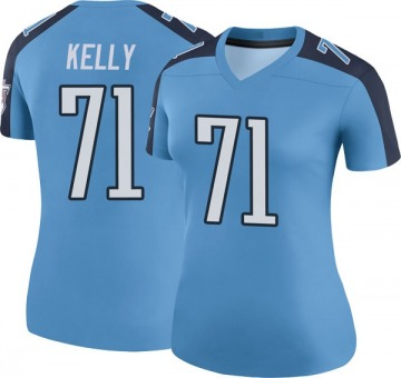 Women's Nike Tennessee Titans Dennis Kelly Light Blue Color Rush Jersey - Legend