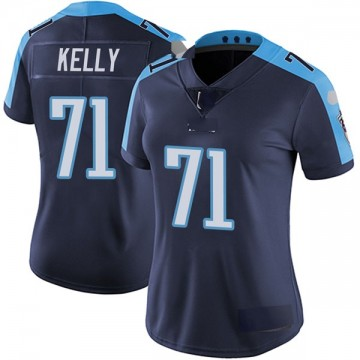 Women's Nike Tennessee Titans Dennis Kelly Navy Blue Alternate Vapor Untouchable Jersey - Limited