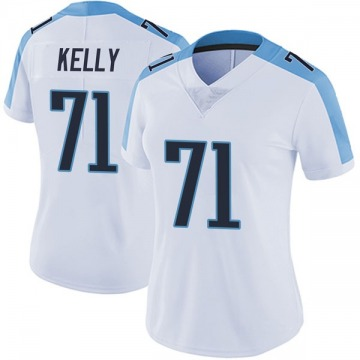 Women's Nike Tennessee Titans Dennis Kelly White Vapor Untouchable Jersey - Limited