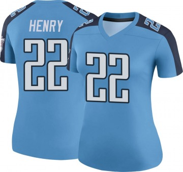 Women's Nike Tennessee Titans Derrick Henry Light Blue Color Rush Jersey - Legend