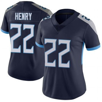 Women's Nike Tennessee Titans Derrick Henry Navy Vapor Untouchable Jersey - Limited