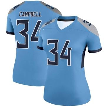 Women's Nike Tennessee Titans Earl Campbell Light Blue Jersey - Legend