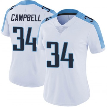 Women's Nike Tennessee Titans Earl Campbell White Vapor Untouchable Jersey - Limited