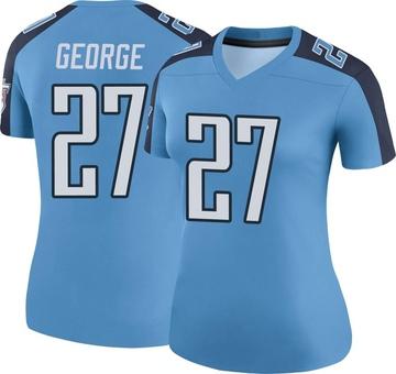 Women's Nike Tennessee Titans Eddie George Light Blue Color Rush Jersey - Legend