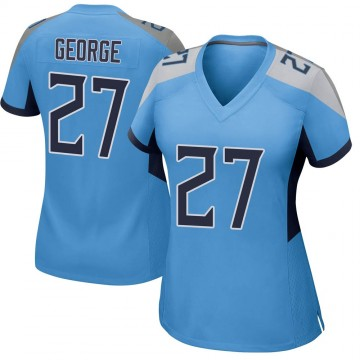 Women's Nike Tennessee Titans Eddie George Light Blue Jersey - Game