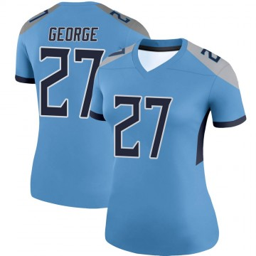 Women's Nike Tennessee Titans Eddie George Light Blue Jersey - Legend
