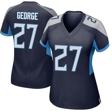 Women's Nike Tennessee Titans Eddie George Navy Jersey - Game
