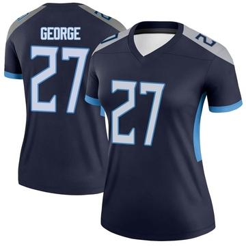 Women's Nike Tennessee Titans Eddie George Navy Jersey - Legend