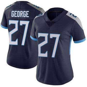 Women's Nike Tennessee Titans Eddie George Navy Vapor Untouchable Jersey - Limited