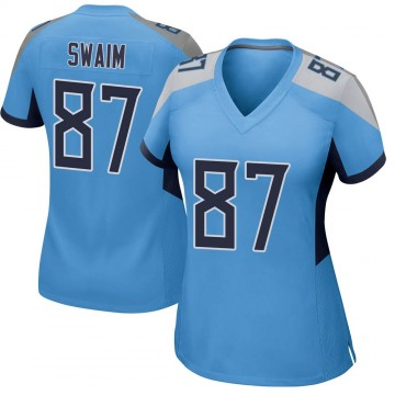 Women's Nike Tennessee Titans Geoff Swaim Light Blue Jersey - Game