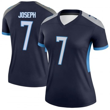 Women's Nike Tennessee Titans Greg Joseph Navy Jersey - Legend