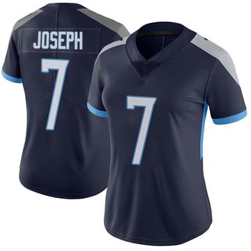 Women's Nike Tennessee Titans Greg Joseph Navy Vapor Untouchable Jersey - Limited