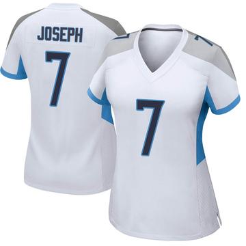 Women's Nike Tennessee Titans Greg Joseph White Jersey - Game